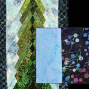 4 Foot Pine Tree Kit (w/Sky and Border) Kit #3 (Copy)